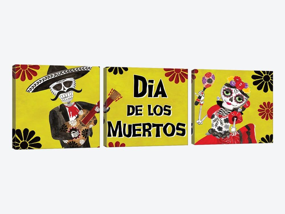 Day of the Dead panel I-Dia de los Muertos by Tara Reed 3-piece Canvas Artwork