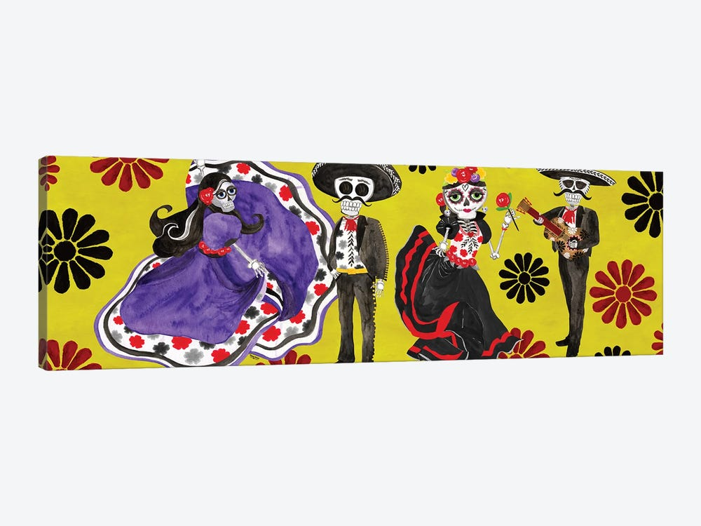 Day of the Dead panel II-Sugar Skull Couple by Tara Reed 1-piece Art Print