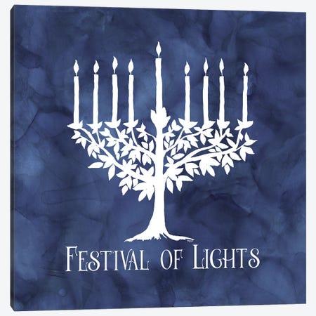 Festival of Lights blue IV-Menorah Canvas Print #TRE410} by Tara Reed Canvas Print