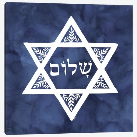 Festival of Lights blue VI-Star of David Canvas Print #TRE411} by Tara Reed Canvas Art Print