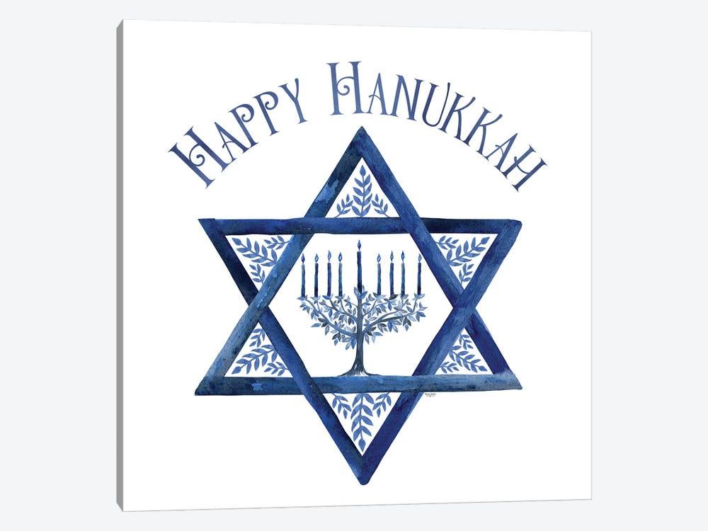 Festival of Lights III-Happy Hanukkah by Tara Reed 1-piece Canvas Art Print