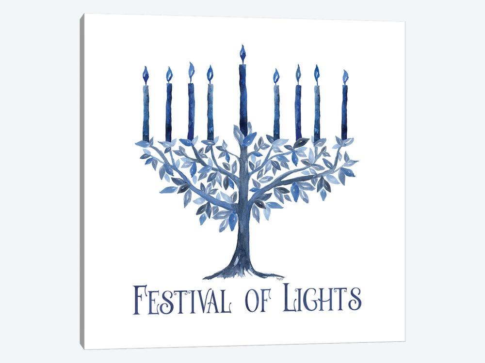 Festival of Lights IV-Menorah by Tara Reed 1-piece Canvas Artwork