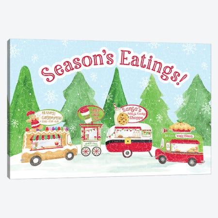 Food Cart Christmas - Seasons Eatings Canvas Print #TRE421} by Tara Reed Canvas Art