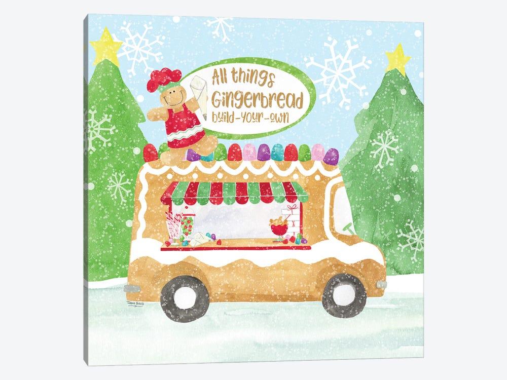Food Cart Christmas I Gingerbread by Tara Reed 1-piece Canvas Print