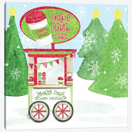 Food Cart Christmas II Jingle Java Canvas Print #TRE423} by Tara Reed Canvas Art