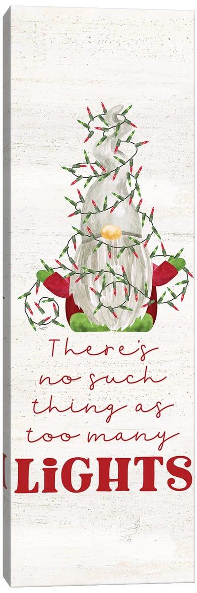 Gnome for Christmas Sentiment vertical II-Lights Canvas Art Print