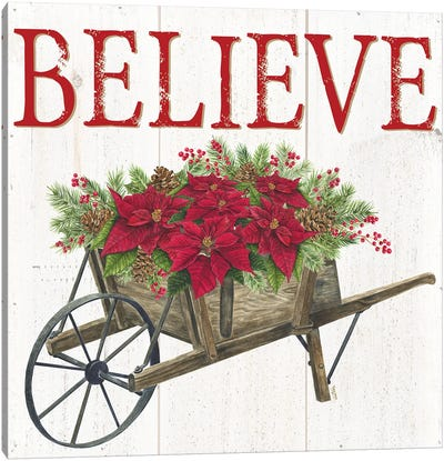 Home for the Holidays Believe Canvas Art Print