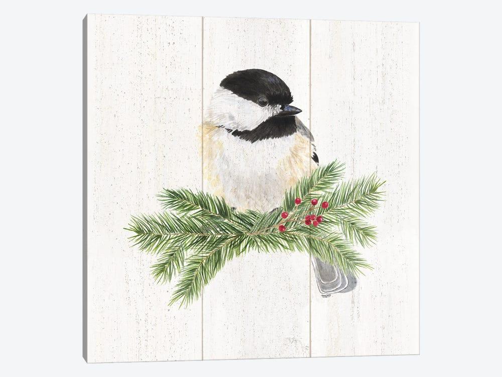 Peaceful Christmas Chickadee I by Tara Reed 1-piece Canvas Art Print