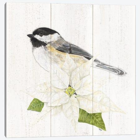 Peaceful Christmas Chickadee II Canvas Print #TRE441} by Tara Reed Canvas Artwork