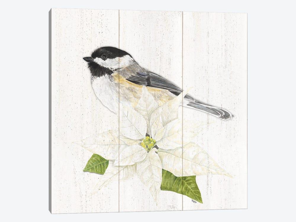 Peaceful Christmas Chickadee II by Tara Reed 1-piece Canvas Art