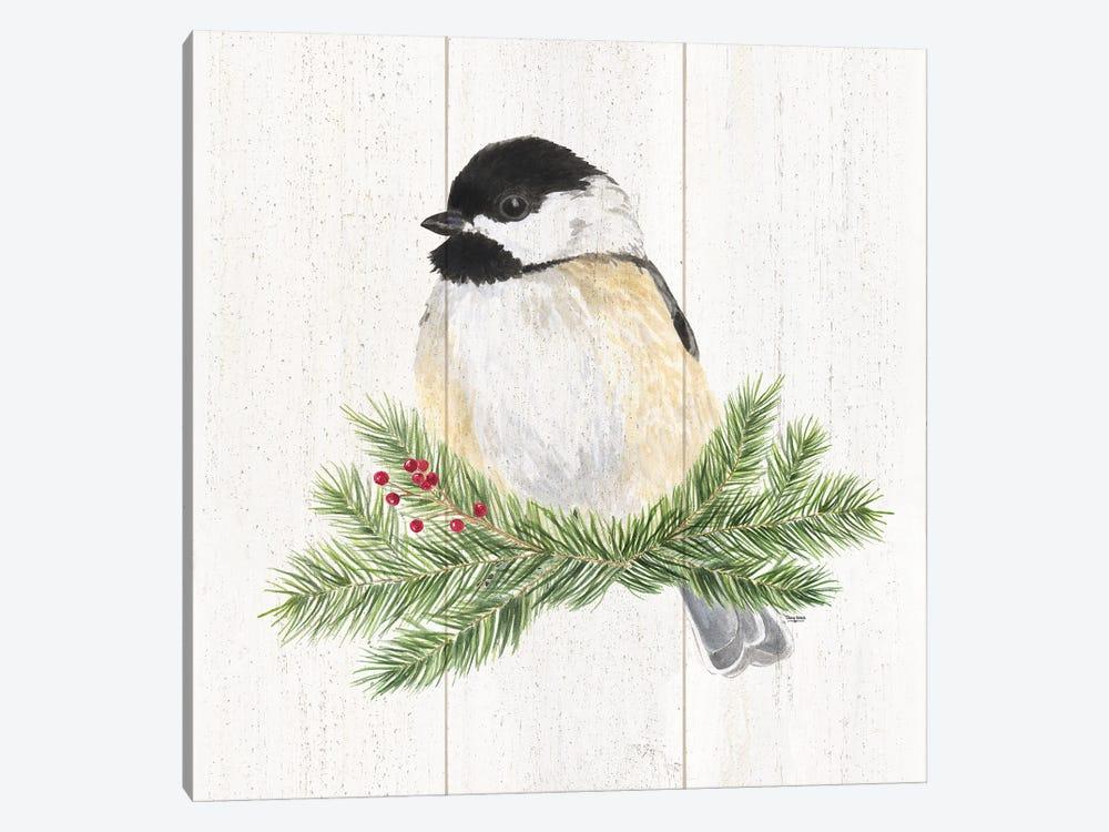 Peaceful Christmas Chickadee III by Tara Reed 1-piece Canvas Art Print