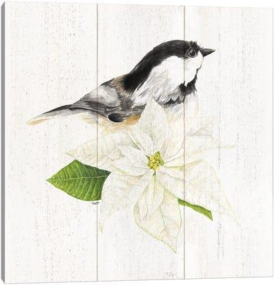 Peaceful Christmas Chickadee IV Canvas Art Print