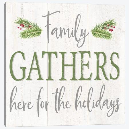 Peaceful Christmas Square Gather  Canvas Print #TRE447} by Tara Reed Art Print
