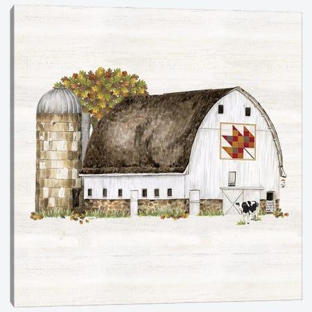 Fall Barn Quilt II Canvas Print #TRE458} by Tara Reed Canvas Art Print