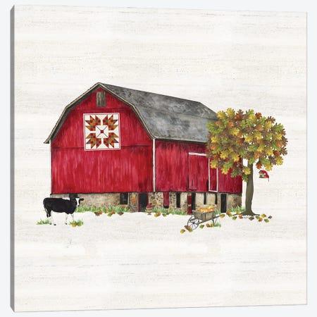 Fall Barn Quilt IV Canvas Print #TRE460} by Tara Reed Canvas Wall Art