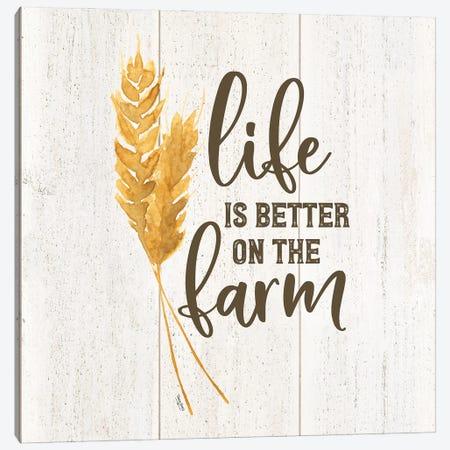 Farm Life V-Better on the Farm Canvas Print #TRE463} by Tara Reed Canvas Art
