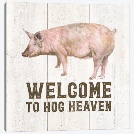 Farm Life VII-Hog Heaven Canvas Print #TRE465} by Tara Reed Canvas Art Print