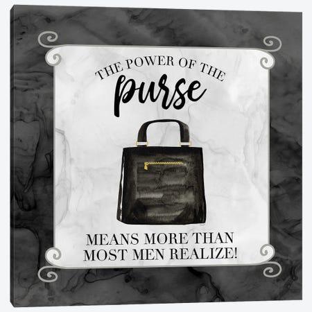 Fashion Humor VI-Power of the Purse Canvas Print #TRE469} by Tara Reed Canvas Wall Art