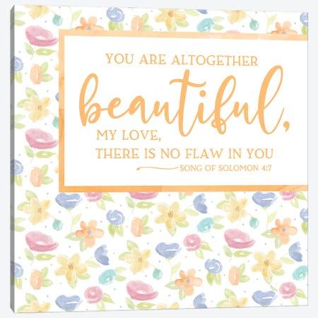 Girl Inspiration I-Beautiful Canvas Print #TRE483} by Tara Reed Canvas Wall Art