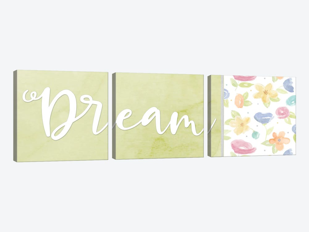 Girl Inspiration panel IV-Dream by Tara Reed 3-piece Canvas Art Print