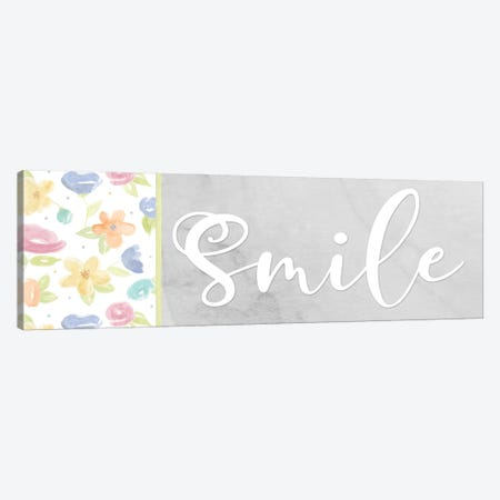 Girl Inspiration panel VIII-Smile Canvas Print #TRE489} by Tara Reed Canvas Artwork