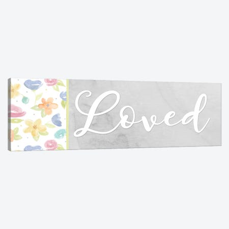 Girl Inspiration panel VII-Loved Canvas Print #TRE490} by Tara Reed Canvas Print