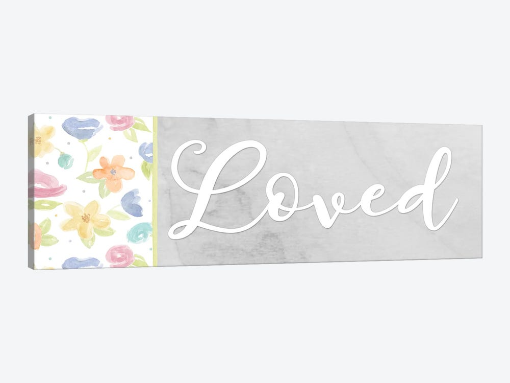 Girl Inspiration panel VII-Loved by Tara Reed 1-piece Canvas Art