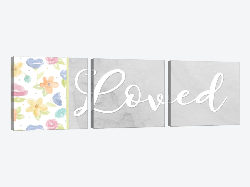 Girl Inspiration panel VII-Loved by Tara Reed 3-piece Canvas Art
