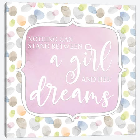 Girl Inspiration VI-Girl and her Dreams Canvas Print #TRE495} by Tara Reed Canvas Wall Art