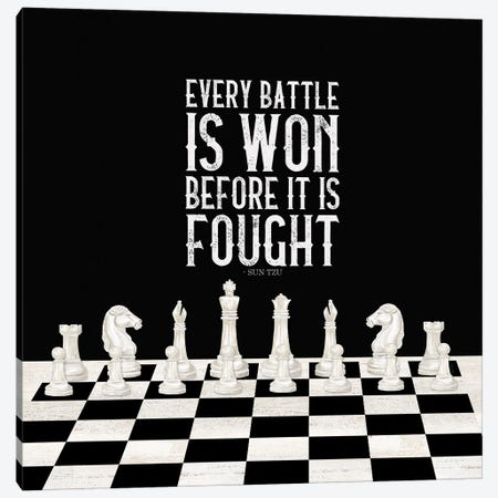 Rather Be Playing Chess I-Every Battle Canvas Print #TRE565} by Tara Reed Canvas Art
