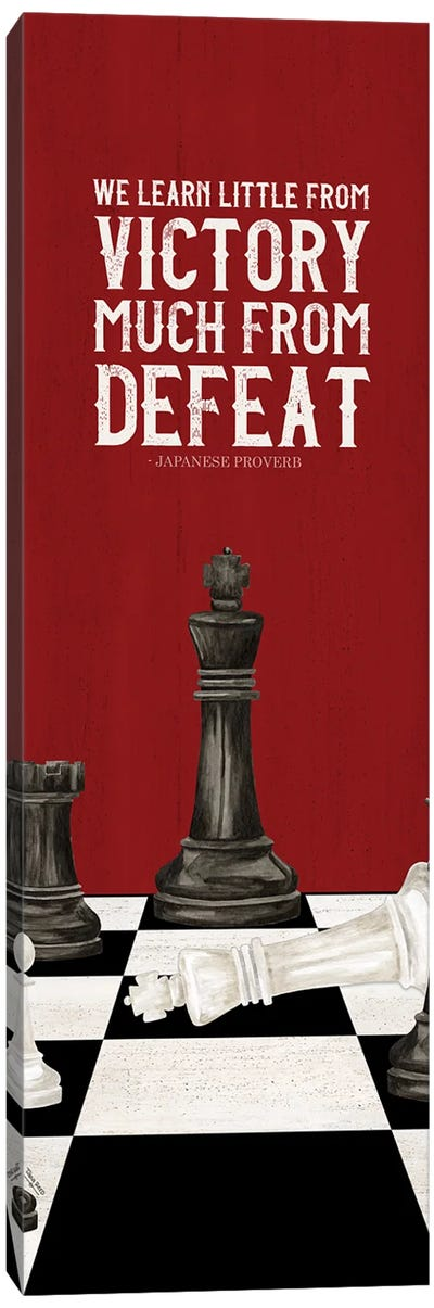 Rather Be Playing Chess Red Panel II-Learn More Canvas Art Print