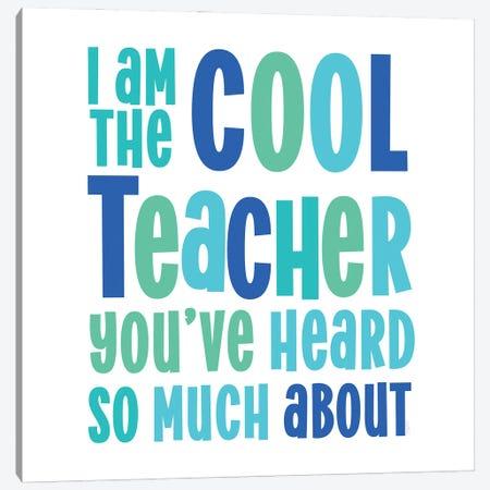 Teacher Truths Blue II-Cool Teacher Canvas Print #TRE602} by Tara Reed Canvas Art