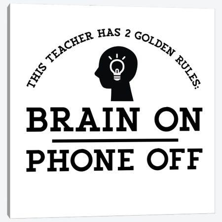 Teacher Truths II-Brain On Canvas Print #TRE605} by Tara Reed Canvas Art Print