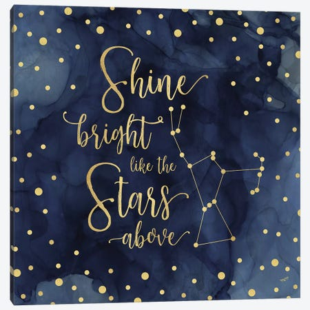 Oh My Stars III Shine Bright Canvas Print #TRE67} by Tara Reed Canvas Print