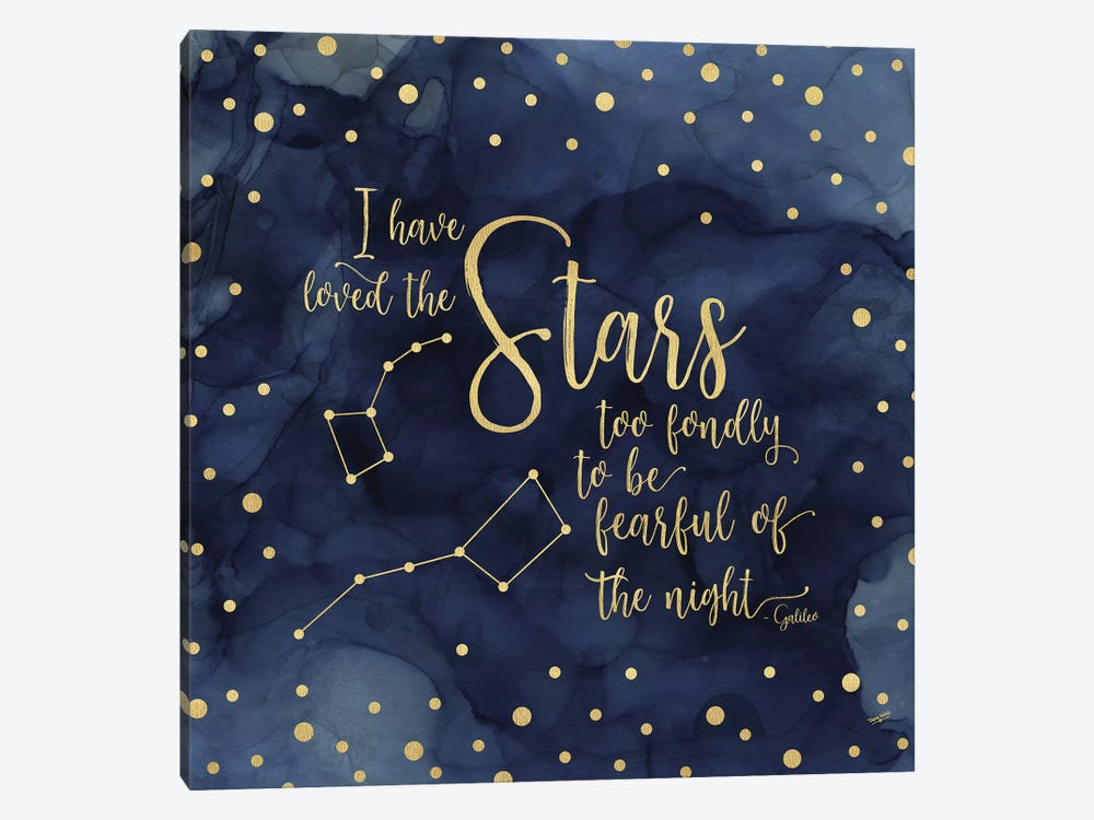 Oh My Stars IV Stars 1-piece Canvas Wall Art