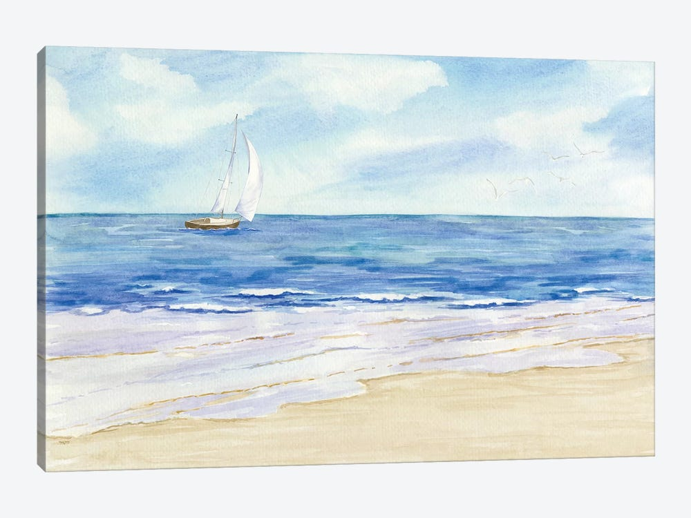 Sailboat & Seagulls I by Tara Reed 1-piece Art Print