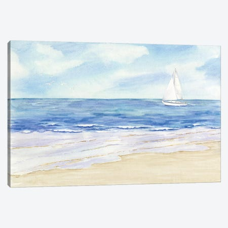 Sailboat & Seagulls II Canvas Print #TRE70} by Tara Reed Art Print