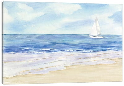 Sailboat & Seagulls II Canvas Art Print