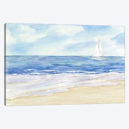Sailboat & Seagulls II Canvas Print #TRE70} by Tara Reed Art Print