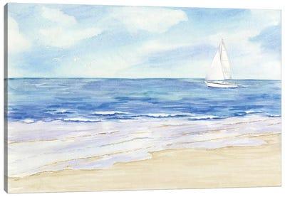 Sailboat & Seagulls II Canvas Art Print