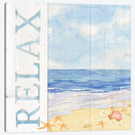 Savor The Sea I Canvas Print #TRE71} by Tara Reed Art Print