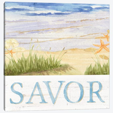 Savor The Sea III Canvas Print #TRE73} by Tara Reed Canvas Art Print