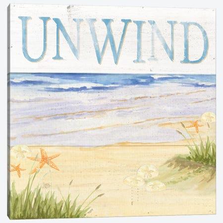 Savor The Sea IV Canvas Print #TRE74} by Tara Reed Canvas Artwork