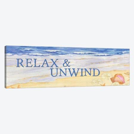Savor The Sea Panel I Canvas Print #TRE75} by Tara Reed Canvas Artwork