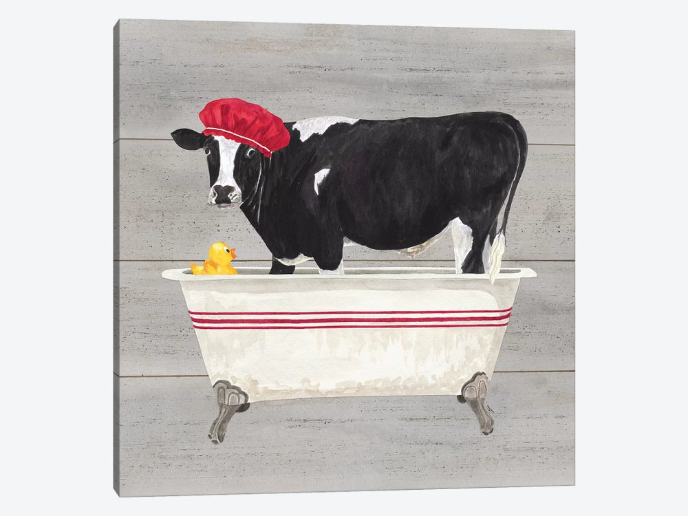 Bath Time For Cows Tub by Tara Reed 1-piece Art Print