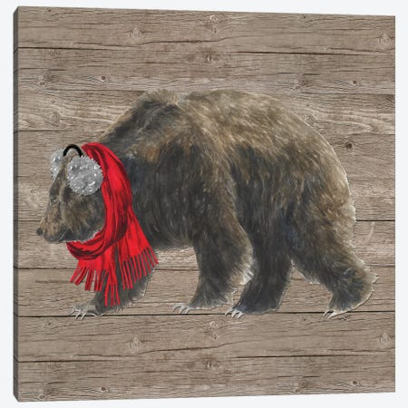Warm In The Wilderness Bear Canvas Print #TRE84} by Tara Reed Art Print