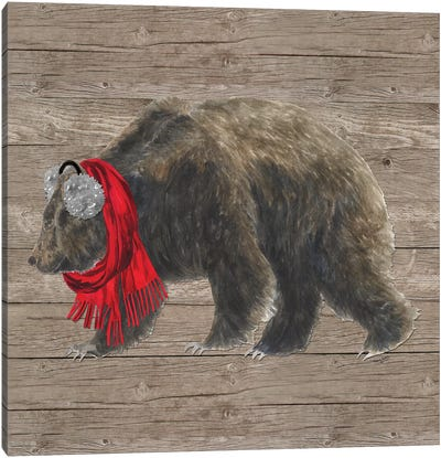 Warm In The Wilderness Bear Canvas Art Print