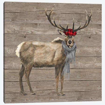 Warm In The Wilderness Deer Canvas Print #TRE85} by Tara Reed Art Print