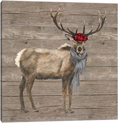 Warm In The Wilderness Deer Canvas Art Print
