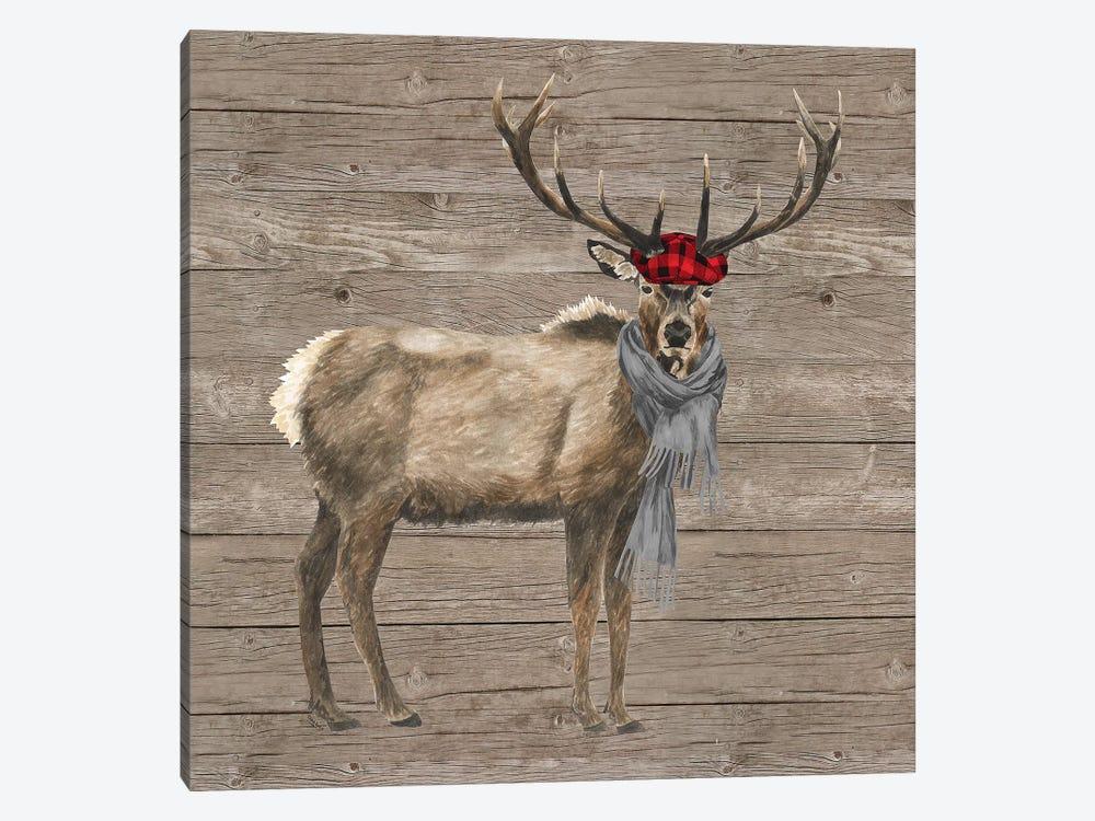 Warm In The Wilderness Deer by Tara Reed 1-piece Canvas Art Print